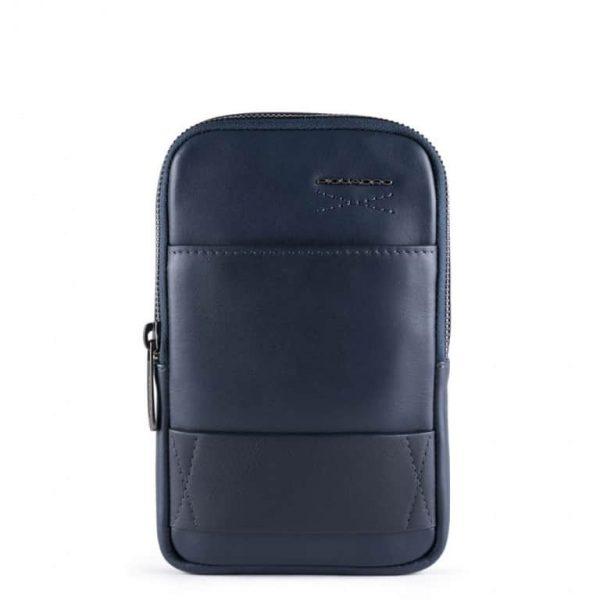 Piquadro Tracollina Porta Smartphone Obidos Blu Notte