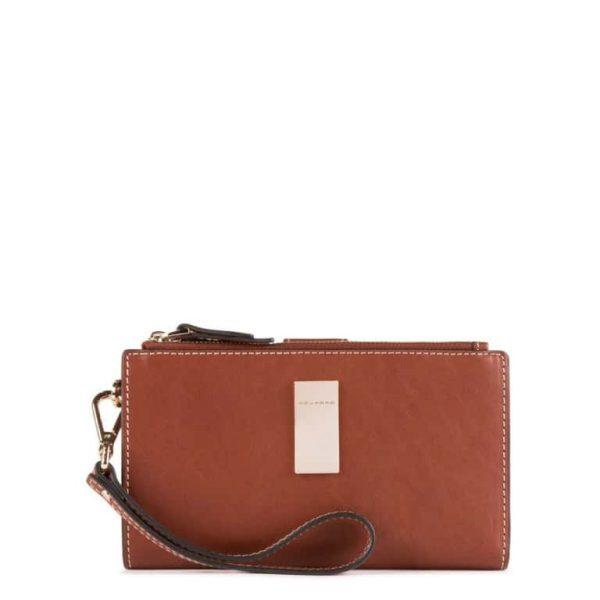 Pochette Portafoglio Piquadro per Smartphone Porta Carte di credito Dafne Cuoio