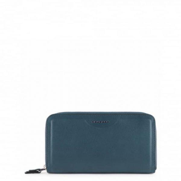 Portafoglio Piquadro Donna con Porta Smartphone in Pelle Gea Blu