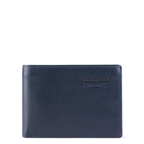 Portafoglio Uomo Con Portadocumenti e Porta Monete In Pelle Obidos Blu