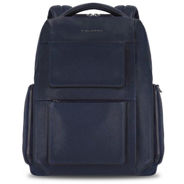 ZAINO Piquadro Fast-Check Porta PC e Tablet in Pelle Tallin Blu