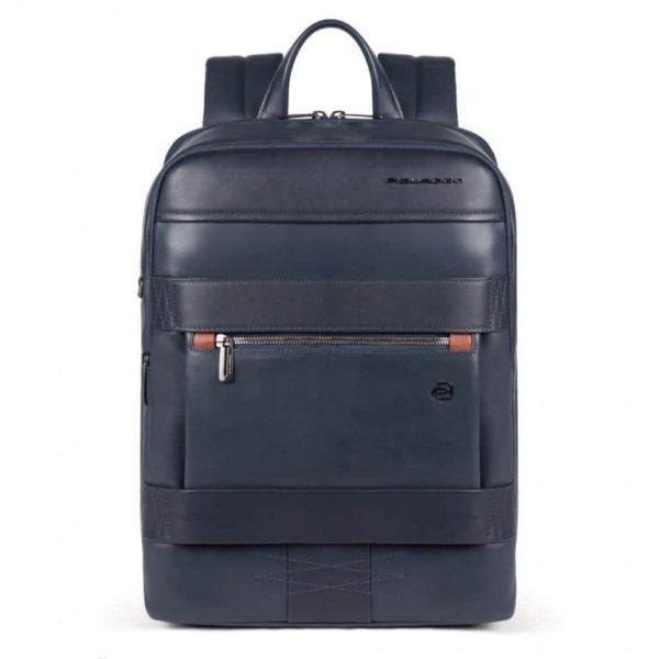 ZAINO Piquadro Porta Computer e Porta Tablet con Protezione in Pelle Obidos Blu