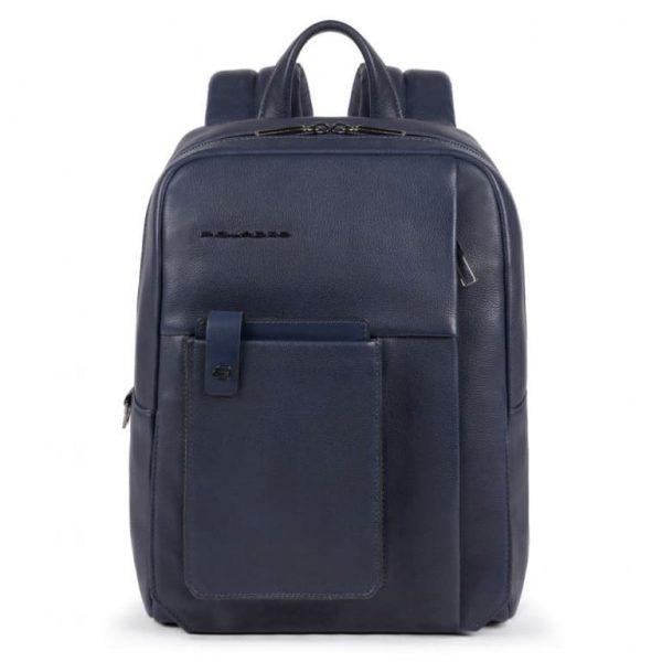 ZAINO Piquadro Porta PC e Porta Tablet con Protezione in Pelle Tallin Blu
