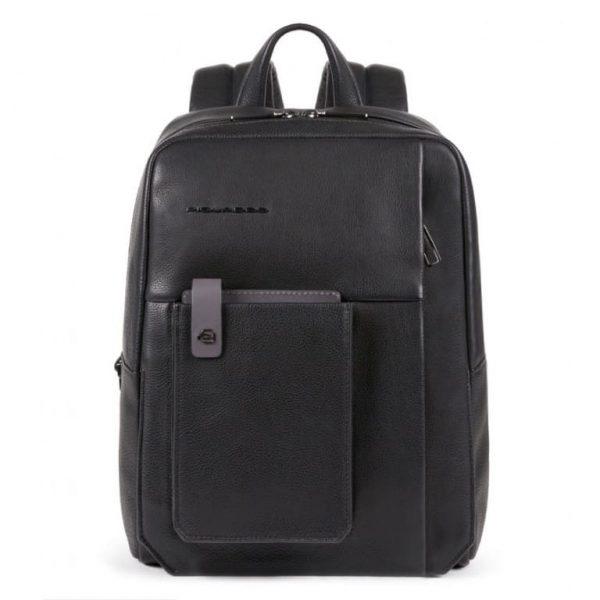 ZAINO Piquadro Porta PC e Porta Tablet con Protezione in Pelle Tallin Nero