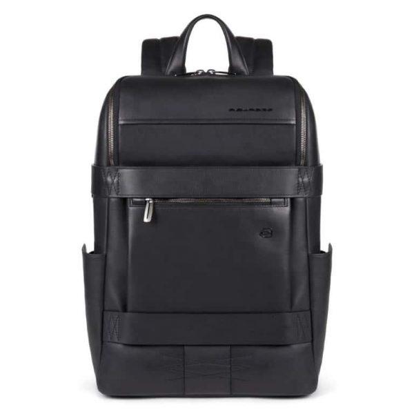 Zaino Piquadro fast-check porta PC e porta iPad Pro in pelle Obidos nero